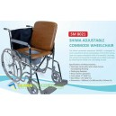 Shima Adjustable commode wheelchair (Kursi roda)